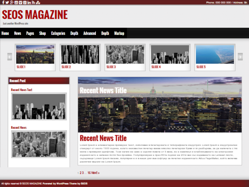 Free WordPress Magazine Theme