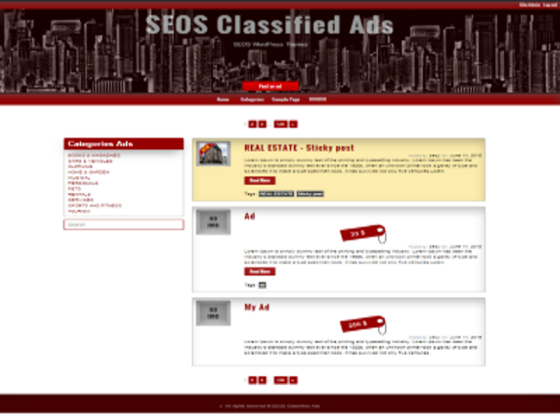 Free WordPress Classified Ads Theme