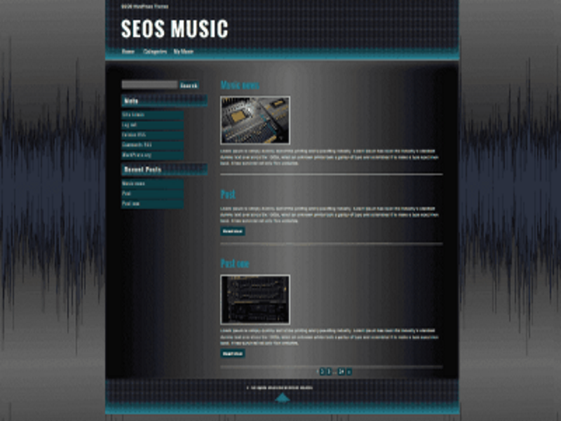 Free WordPress Music Theme